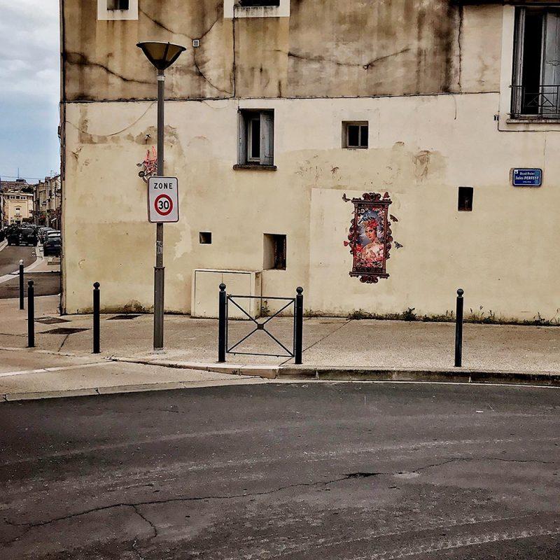 Une vue générale du visuel le printemps collé à Boutonnet à Montpellier